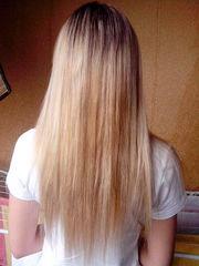 Профессиональное наращивание волос  на дому