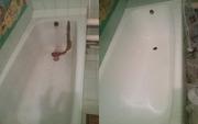 Реставрация ванны жидким акрилом и эмалью Саратов