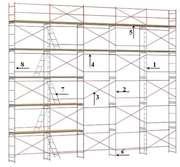 Аренда рамных строительных лесов ЛРСП-300